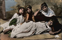 Woman and Children Native to Alger