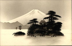 Japanese Landscape - raised Image