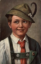 Portrait of Boy in Austrian Attire