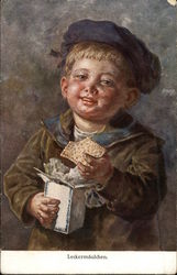 Young Boy Eating Crackers