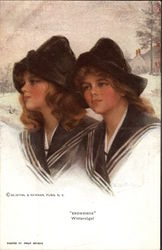 """Snowbirds"" - Twin Girls in the Snow"