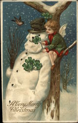 A Very Merry Christmas with Shamrocks & Snowman