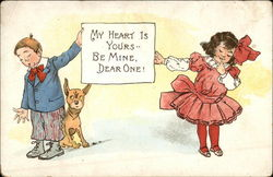 My Heart is Yours ... Be Mine, Dear One! Postcard