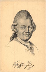 Signed Sketch of Gotthold Ephraim Lessing (Poet)