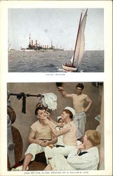 Naval Review, One of the Close Shaves of a Sailor's Life