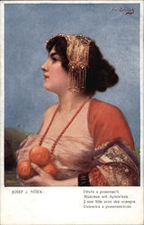 """Young Woman with the Oranges"""