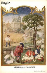July - Sheep Shearing Scene