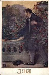 Juni (June) - Man Looking Over Balcony
