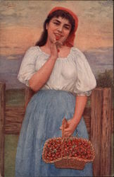 Peasant Woman with a Basket of Cherries
