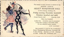 8th Annual Masquerade Ball 11/20, 1908