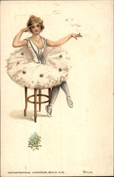 Ballerina Smoking Cigarette