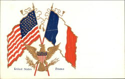 Flags of United States and France