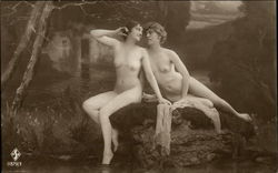 Two Nude Women at Water's Edge