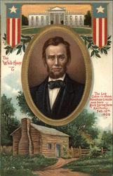 Abraham Lincoln from Log Cabin to White House Postcard