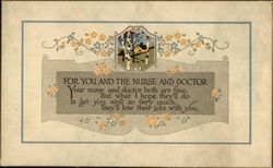 For You the Nurse and Doctor Postcard