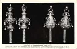 Silver Bells for Ornamenting the Torah Scrolls