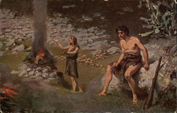 Cain and Abel beside a Burnt Offering