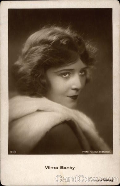 Portrait of Vilma Banky Actresses
