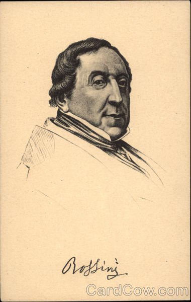 Portrait of Gioachina Antonio Rossini (Composer) Composers