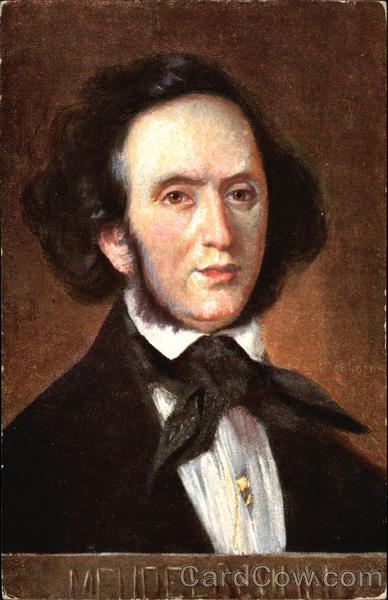Portrait of The Composer Mendelssohn Composers