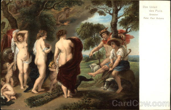 The Judgement of Paris - Nude Women, Children, & Shepards