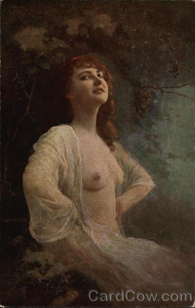 Semi nude blonde women-7234