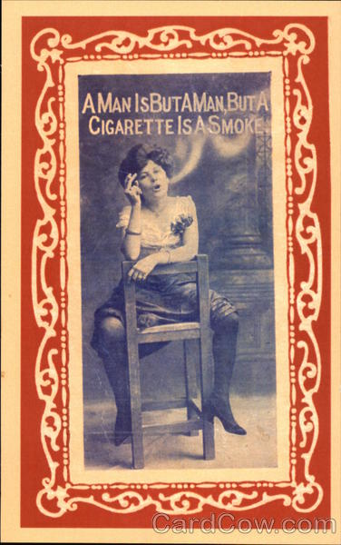 A Man is But a Man, but a Cigarette is a Smoke Comic, Funny