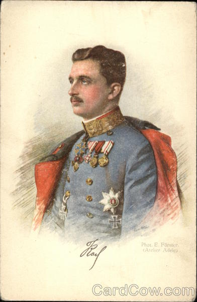 Royal Portrait of Kaiser Karl I Royalty