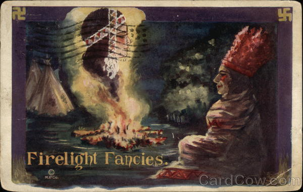 Firelight Fancies - Native American Scene Native Americana