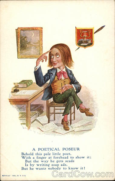 A Poetical Poseur Caricatures