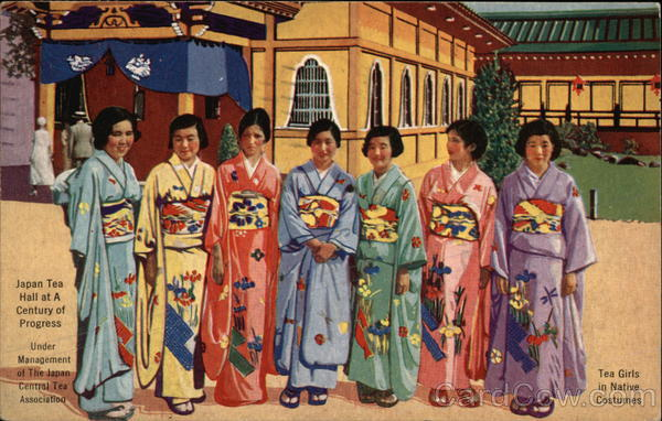 Japan Tea Hall at A Century of Progress - Tea Girls in Native Costumes