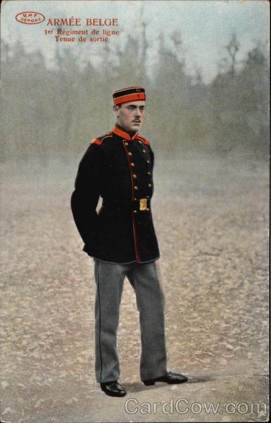 A Belgian Army soldier Men