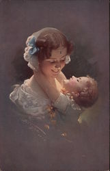 Portrait of Woman and Smiling Child