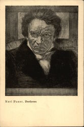 Charcoal Portrait of Beethoven