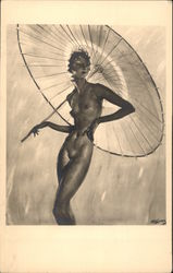 Nude Woman with Parasol