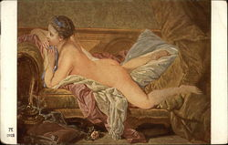 Nude Woman Reclining on Couch