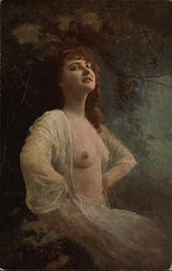 Semi-Nude Woman in the Moonlight