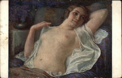 Nude Woman Reclining on Chaise