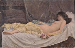 Nude Lady Sleeping On Bed