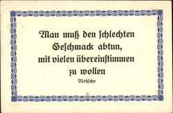A quotation in German of Frederich Nietziche