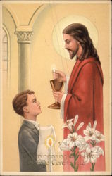 Jesus in Communion Scene with Young Boy