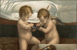 Two Cherubs at Bedside