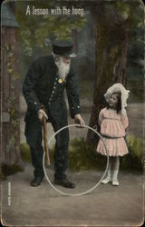 """A Lesson with the Hoop"" - Old Man & Young Girl"