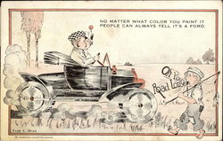 Ford Automobile Advertisement Postcard