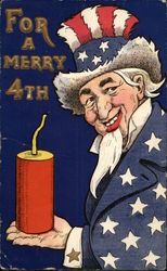 For a Merry 4th - Uncle Sam with Firecracker