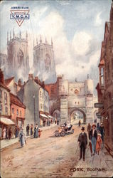 Street Scene of York,  Postcard