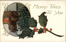 Merry Times to You - Bear with Christmas Tree