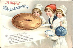 A Happy Thanksgiving with Large Pie and Children