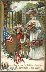 Woman and Children celebrating Memorial Day