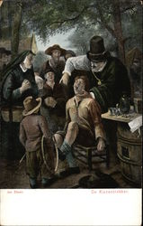 Early Dutch Dentist Pulling Teeth From A Boy